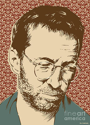 Slowhand Digital Art - Eric Clapton by Jim Zahniser