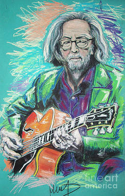 Clapton Drawing - Eric Clapton by Melanie D