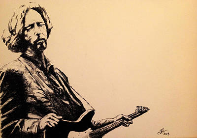 Eric Clapton Drawing - Eric Clapton by Tim Brandt