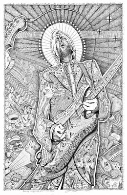 Eric Guitar God Clapton Original by Lance Graves