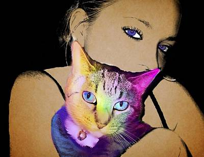 Erica And Kipper Print by Cindy Edwards