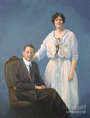 Ernest And Helen Barnes Print by Phyllis Andrews