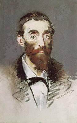 Bohemian Photograph - Ernest Cabaner Pastel by Edouard Manet