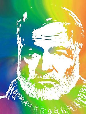 Ernest Hemingway Pop Art Print by Dan Sproul