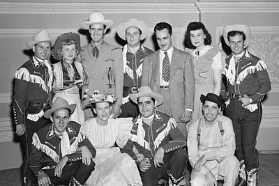Ernest Tubb Minnie Pearl And Other Grand Ole Opry Stars At Carnegie Hall 1947    Print by Mountain Dreams