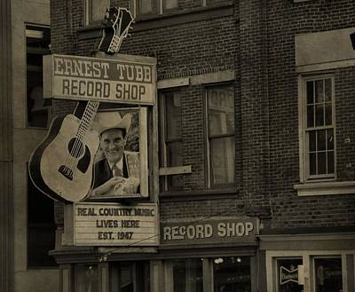 Ernest Tubb Record Shop Print by Dan Sproul
