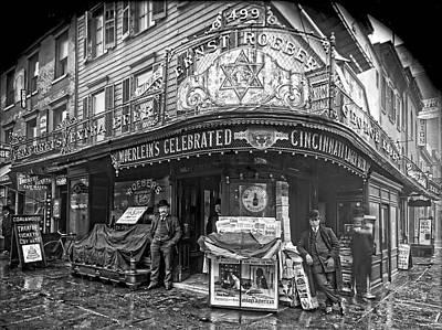 Champagne Photograph - Ernst Roebers Saloon - Manhattan - 1908 by Daniel Hagerman