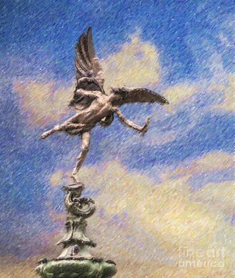 London Digital Art - Eros Anteros Cupid by Liz Leyden