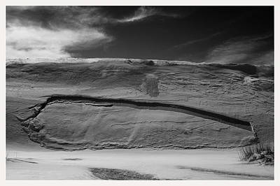 Benchmark Photograph - Erosion Dunes White Sands National Monument New Mexico by Mark Goebel