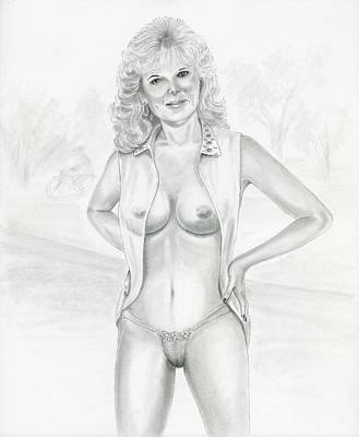 Naked Drawing - Erotic Day At The Park 3 by Shelby