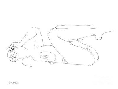 Nudity Drawing - Erotic-drawings-gpunt-25 by Gordon Punt