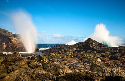 Eruption - Nakalele Blowhole In Maui. Print by Jamie Pham
