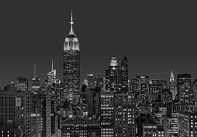 Empire State Photograph - Esb Surrounded By The Flatiron District Bw by Susan Candelario