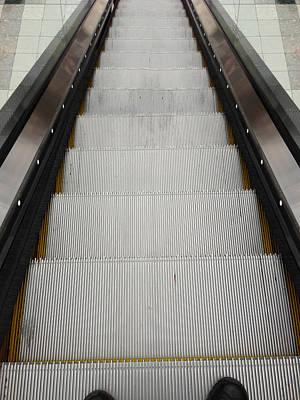 Escalator Print by Les Cunliffe