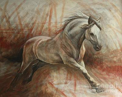 Equestrian Artists Painting - Escape by Silvana Gabudean