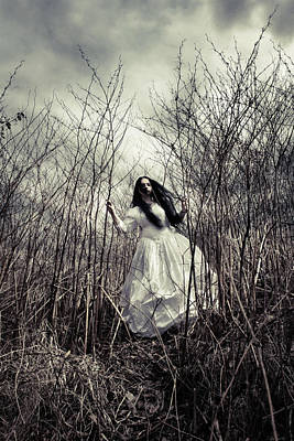 Creepy Photograph - Escaping Bride by Cambion Art