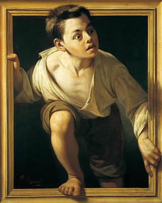 Escaping Criticism Print by Pere Borrell Del Caso