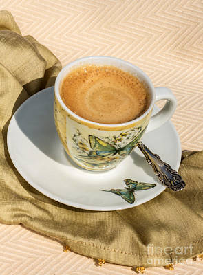 Balck Art Photograph - Espresso In Butterfly Cup by Iris Richardson