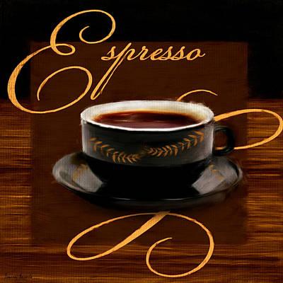 Espresso Passion Print by Lourry Legarde