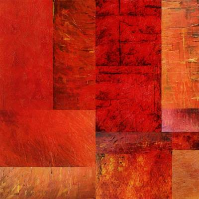 Essence Of Red 2.0 Print by Michelle Calkins