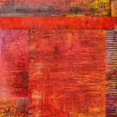 Essence Of Red Print by Michelle Calkins