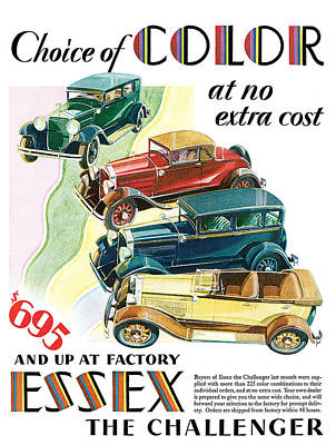 Essex Challenger Vintage Poster Print by World Art Prints And Designs