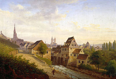 Esslingen Painting - Esslingen From The West by Johannes Braungart