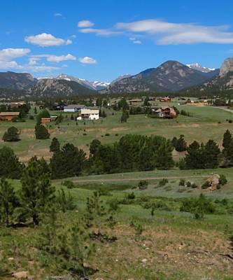 Mountain Mixed Media - Estes Park Colorado by Dan Sproul