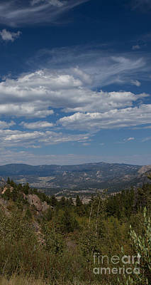 Estes Park In The Valley Print by Kay Pickens