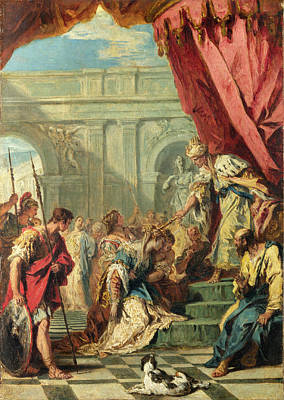 Ahasuerus Painting - Esther Before Ahasuerus by Sebastiano Ricci