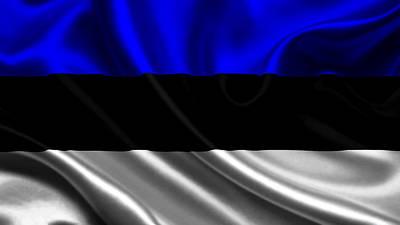 Flags Photograph - Estonia Flag by VRL Art