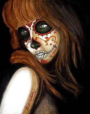 Painted Face Painting - Estoy Perdida Sin Ti  by Al  Molina