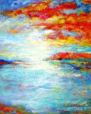 Abstract Seascape Painting - Estuary Escape by Cristina Stefan