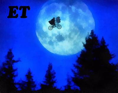 Et The Extra Terrestrial Print by Dan Sproul