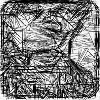 Etch-a-sketch Abstraction  Print by Jonathan Harnisch