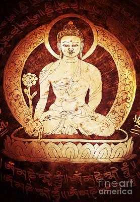 Etched Buddha  Print by Tim Gainey
