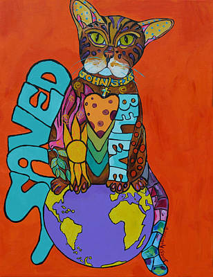 Save The Earth Painting - Eternal Life by Stacey Robinson
