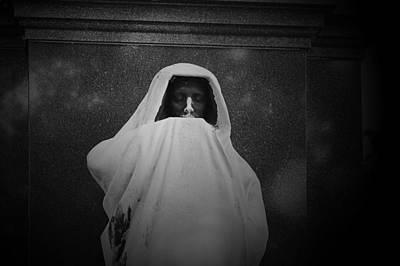 'eternal Silence'- Graceland Cemetery Chicago Print by Christine Till
