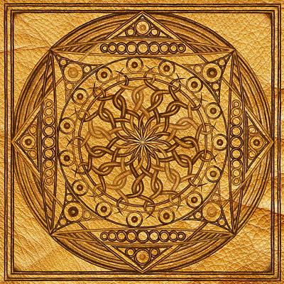 Colourful Drawing - Eternity Mandala Leather by Hakon Soreide