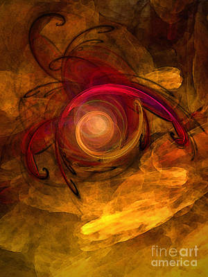 Spiritual Being Digital Art - Eternity Of Being-abstract Expressionism by Karin Kuhlmann