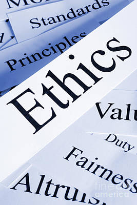 Ethics Concept Print by Colin and Linda McKie
