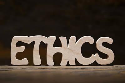 Positive Attitude Photograph - Ethics by Donald  Erickson