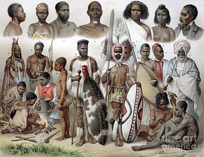 Dinka Photograph - Ethnic Groups Of Africa, 1880s by Bildagentur-online