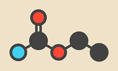 Stylized Beverage Photograph - Ethyl Carbamate Carcinogenic Molecule by Molekuul