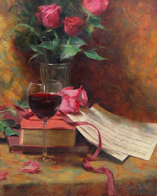 Wine Glass Painting - Etude by Anna Rose Bain
