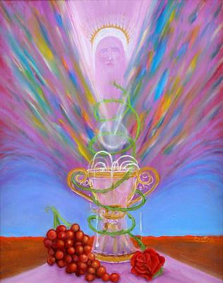 Transfiguration Painting - Eucharist by Anne Cameron Cutri