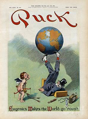 Eugenics Photograph - Eugenics Caricature, 1913 by Library Of Congress