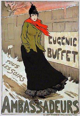 Affiche Mixed Media - Eugenie Buffet by Charlie Ross