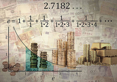 Euler's Number And Equation - Compound Interest Print by Daniel Hagerman