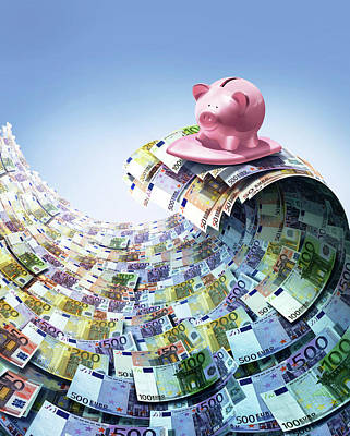 Euro Savings Print by Smetek